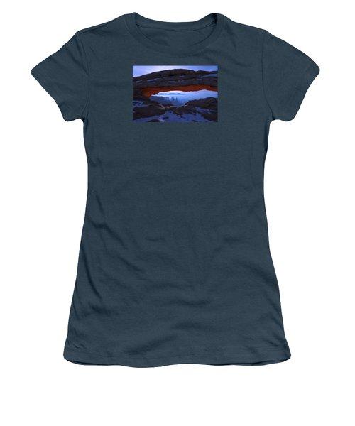 Women's T-Shirt (Junior Cut) featuring the photograph Moonlit Mesa by Chad Dutson