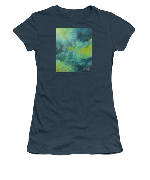 Women's T-Shirt (Junior Cut) featuring the painting Musing 117 by Elis Cooke