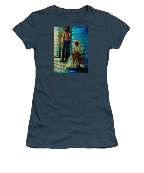 Women's T-Shirt (Junior Cut) featuring the painting My Mom by Emery Franklin