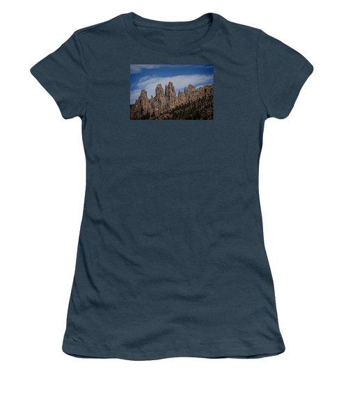 Needles, North Dakota Women's T-Shirt (Junior Cut) by Dennis Eckel