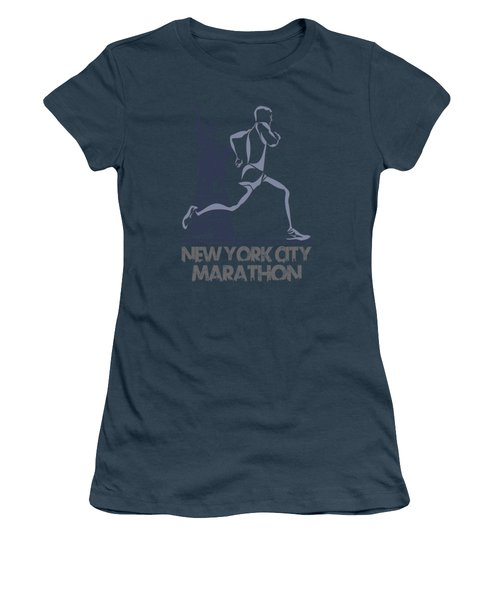 New York City Marathon3 Women's T-Shirt (Junior Cut) by Joe Hamilton