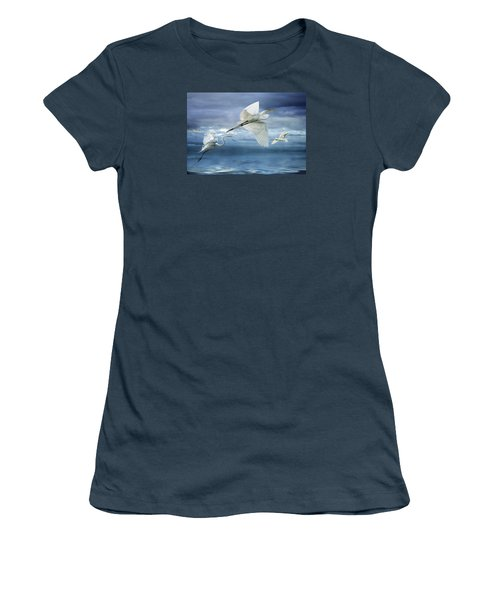 Night Flight Women's T-Shirt (Junior Cut) by Brian Tarr