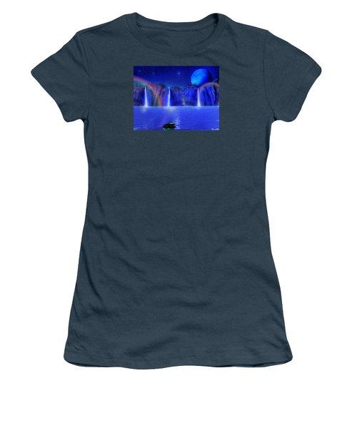 Women's T-Shirt (Junior Cut) featuring the photograph Nightdreams by Bernd Hau