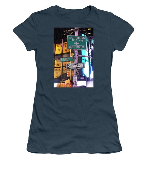 Nyc Street Sign Women's T-Shirt (Junior Cut) by Kate Purdy
