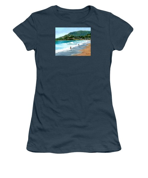 Oak Street Beach, Laguna Beach Women's T-Shirt (Junior Cut)
