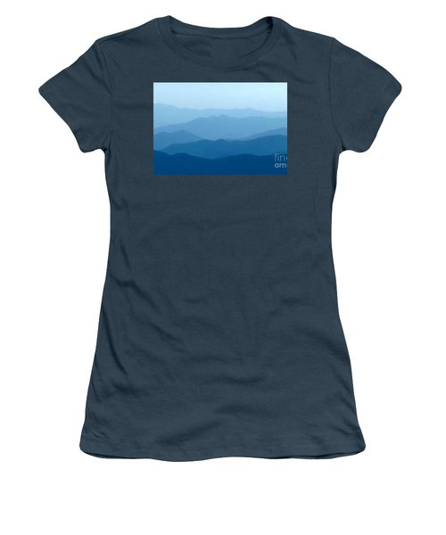Women's T-Shirt (Junior Cut) featuring the digital art Ocean Waves by Anthony Fishburne