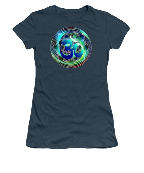 Om Vibration Ocean Women's T-Shirt (Junior Cut) by Robert G Kernodle