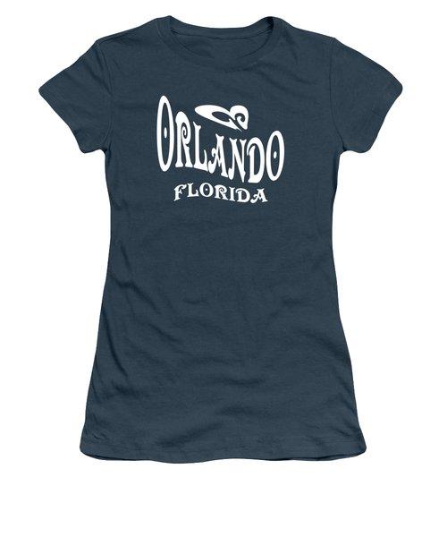 Orlando Florida Tshirt Design Women's T-Shirt (Junior Cut) by Art America Gallery Peter Potter