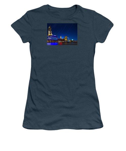 Oxo Tower Star Trails Women's T-Shirt (Junior Cut)