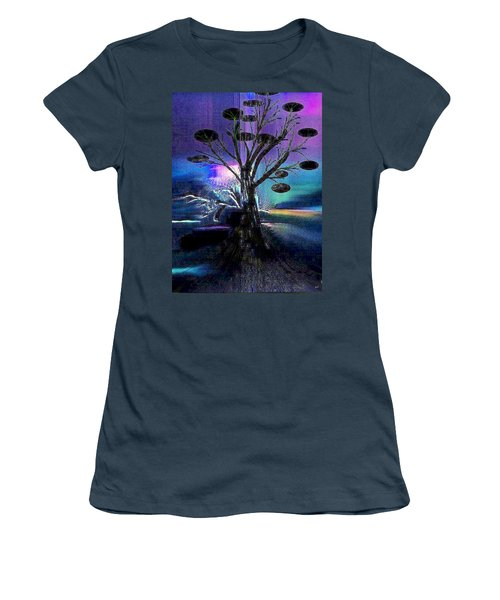Pale Moonlight Women's T-Shirt (Junior Cut) by Yul Olaivar