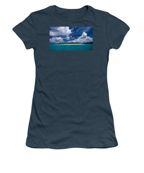 Paradise Is Sandy Cay Women's T-Shirt (Athletic Fit)