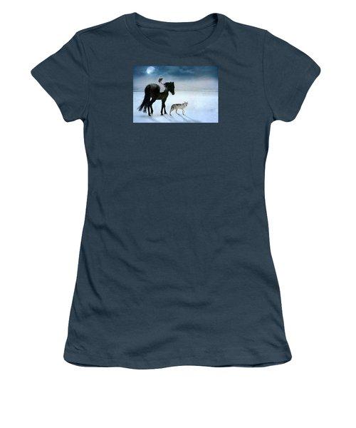 Peace On Earth Women's T-Shirt (Junior Cut) by Dorota Kudyba