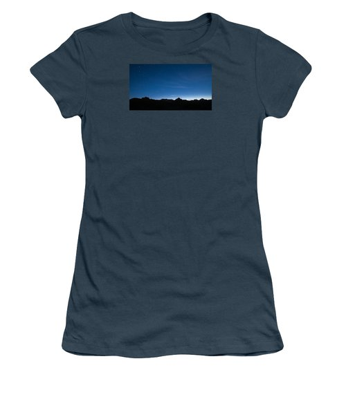 Women's T-Shirt (Junior Cut) featuring the photograph Peralta Trail At Sunrise by Monte Stevens