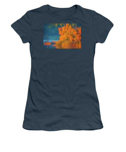Women's T-Shirt (Junior Cut) featuring the photograph Photographing The Sunrise by Marc Crumpler