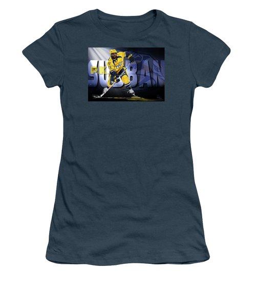 Pk Subban Women's T-Shirt (Junior Cut) by Don Olea