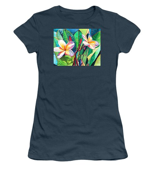 Plumeria Garden Women's T-Shirt (Junior Cut) by Marionette Taboniar