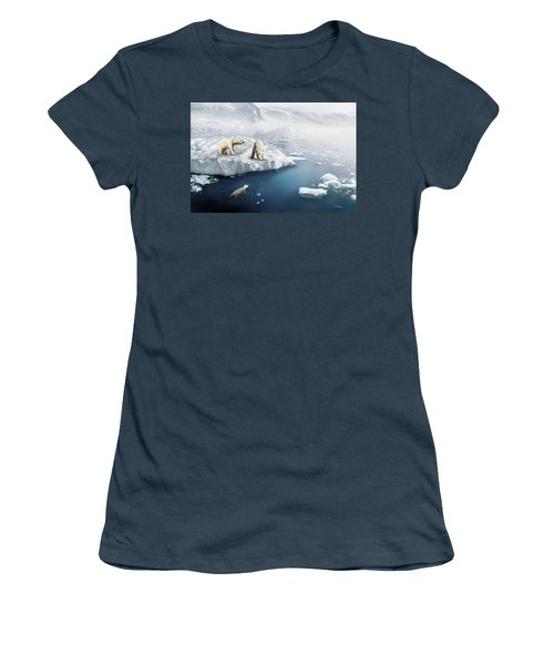 Polar Bears Women's T-Shirt (Junior Cut) by Thanh Thuy Nguyen