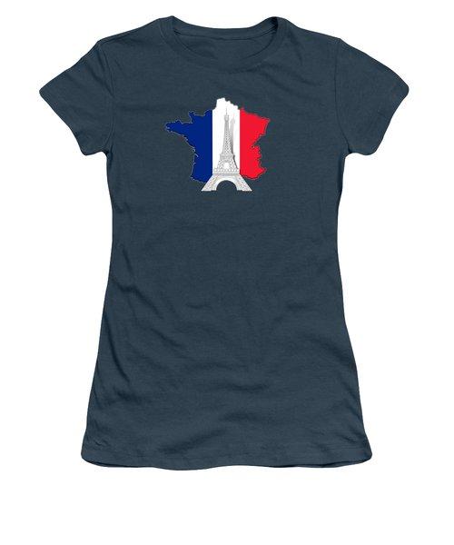 Pray For Paris Women's T-Shirt (Junior Cut)