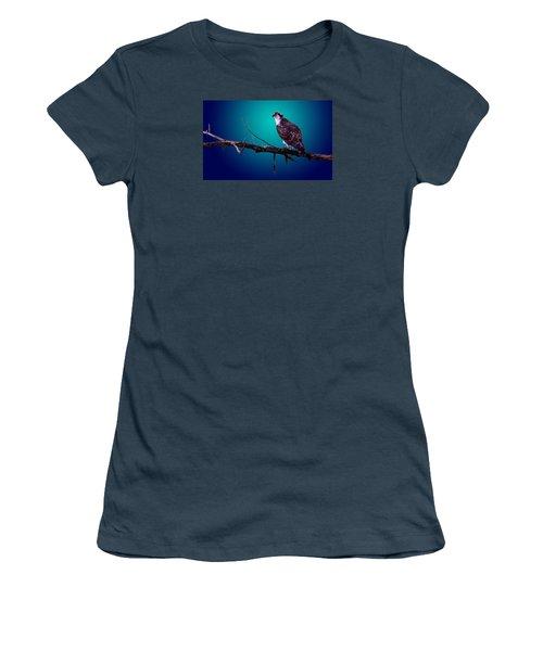Women's T-Shirt (Junior Cut) featuring the photograph Radiant Raptor by Brian Stevens
