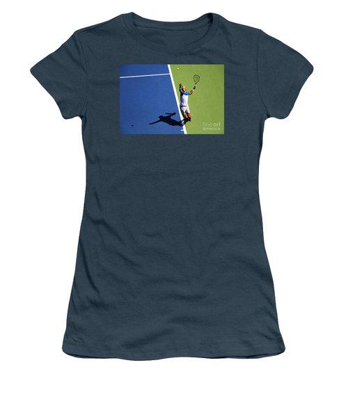 Rafeal Nadal Tennis Serve Women's T-Shirt (Junior Cut) by Nishanth Gopinathan