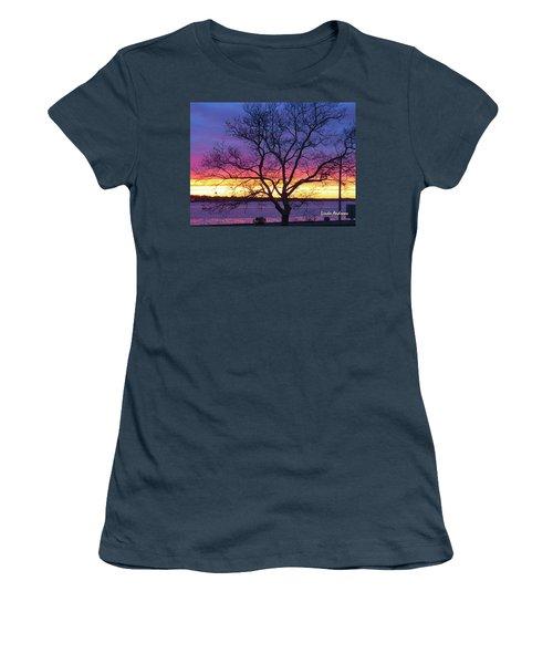 Rainbow Sunset Women's T-Shirt (Junior Cut) by Robert Henne