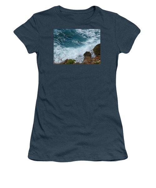 Raw Blue Power Women's T-Shirt (Junior Cut) by Margaret Brooks