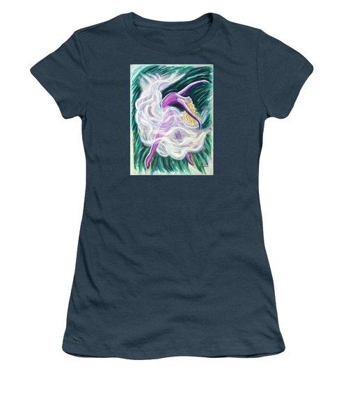 Reaching Out Women's T-Shirt (Junior Cut) by Anya Heller