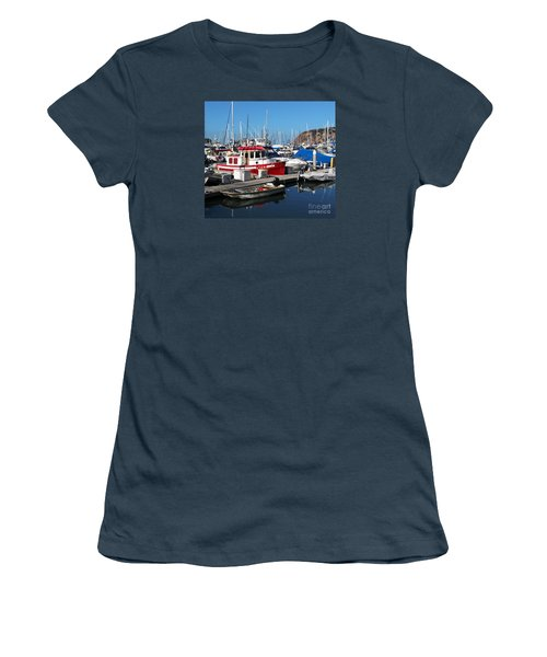 Women's T-Shirt (Junior Cut) featuring the photograph Red Boat by Cheryl Del Toro