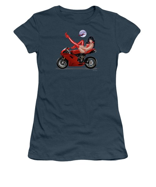 Red Hot Rider Women's T-Shirt (Junior Cut) by Glenn Holbrook