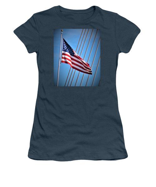 Red, White And Blue Women's T-Shirt (Junior Cut) by Martin Cline