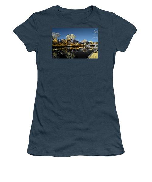 Reflections On Wesley Lake Women's T-Shirt (Junior Cut) by Paul Seymour