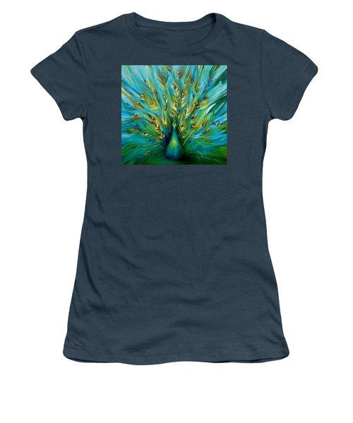Regal Peacock Women's T-Shirt (Junior Cut) by Dina Dargo