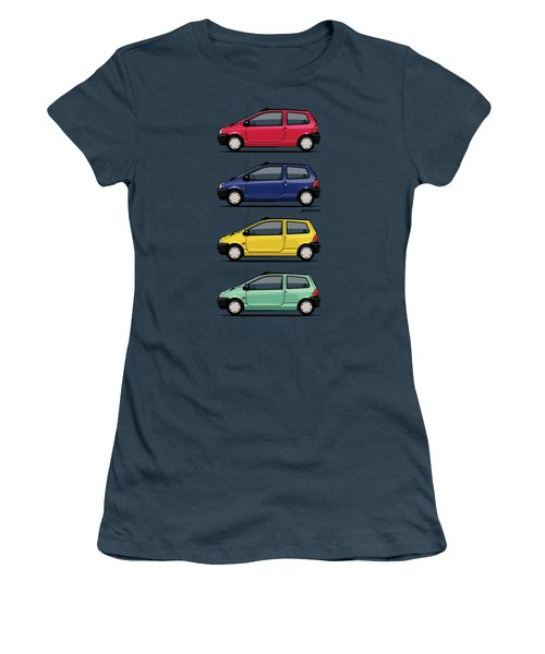 Renault Twingo 90s Colors Quartet Women's T-Shirt (Junior Cut) by Monkey Crisis On Mars