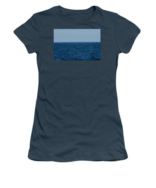Women's T-Shirt (Junior Cut) featuring the digital art Return To The Isle Of Shoals by Barbara S Nickerson
