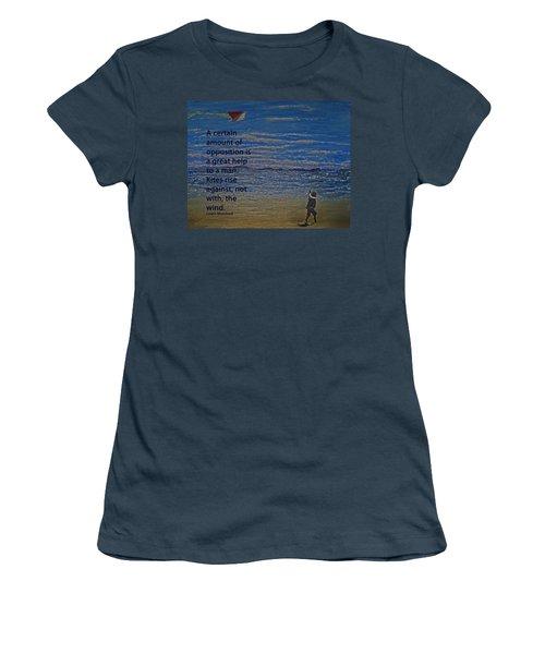 Rise Against The Wind Women's T-Shirt (Junior Cut) by Ian  MacDonald