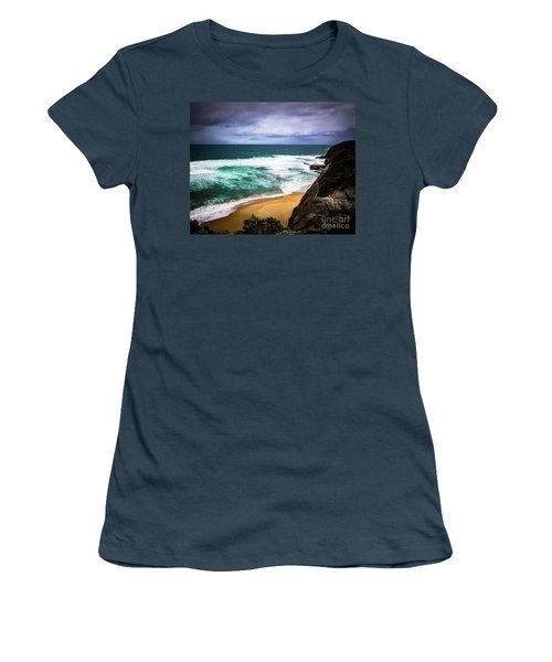Women's T-Shirt (Junior Cut) featuring the photograph Rocky Coast by Perry Webster
