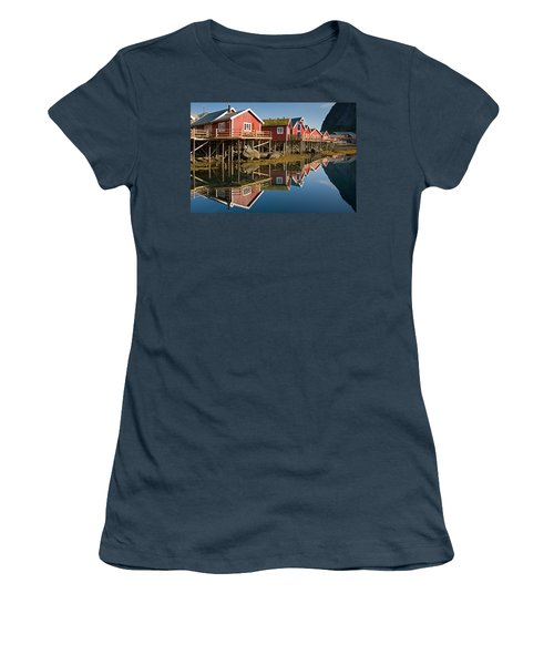 Rorbus With Reflections Women's T-Shirt (Junior Cut) by Aivar Mikko