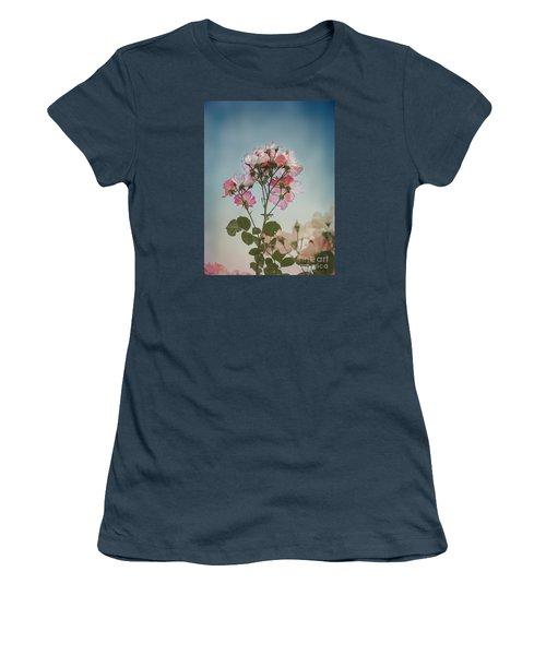 Roses In The Sky Women's T-Shirt (Junior Cut) by Elaine Teague