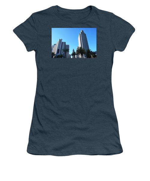 San Francisco Embarcadero Center Women's T-Shirt (Junior Cut) by Matt Harang