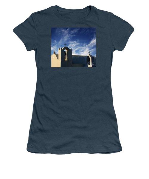Santorini Greece Architectual Line 3 Women's T-Shirt (Junior Cut) by Bob Christopher