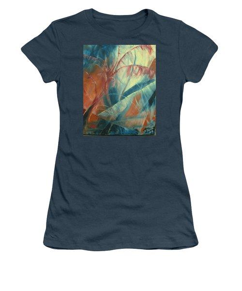 Women's T-Shirt (Junior Cut) featuring the painting Savannah by Renate Nadi Wesley