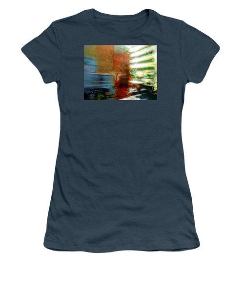 Women's T-Shirt (Junior Cut) featuring the photograph Seattle By Train by Lori Seaman