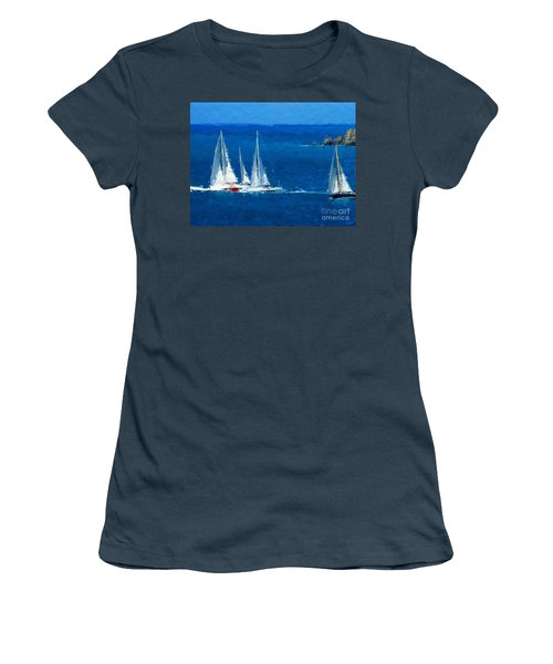 Women's T-Shirt (Junior Cut) featuring the digital art Set Sail by Anthony Fishburne