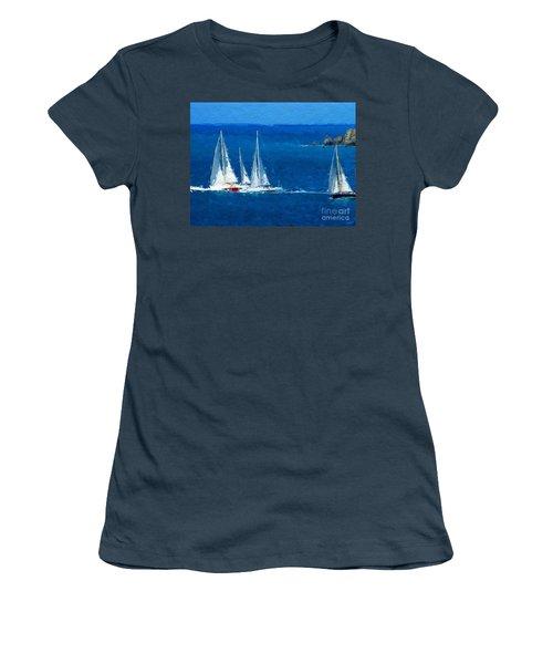 Set Sail Women's T-Shirt (Junior Cut) by Anthony Fishburne