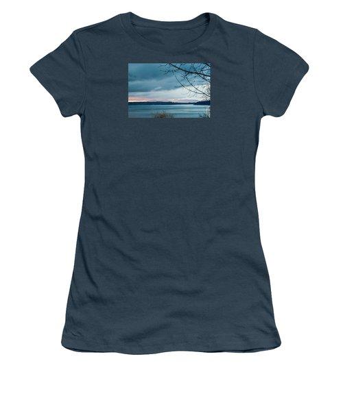 Shades Of Blue As Night Falls Women's T-Shirt (Junior Cut) by E Faithe Lester