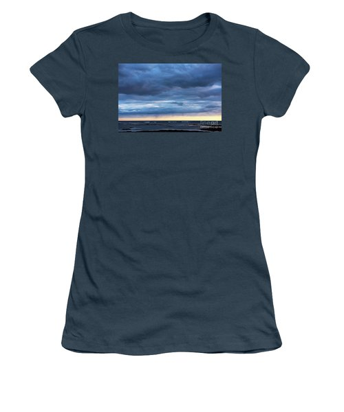 Women's T-Shirt (Junior Cut) featuring the photograph Shades Of Blue.. by Nina Stavlund