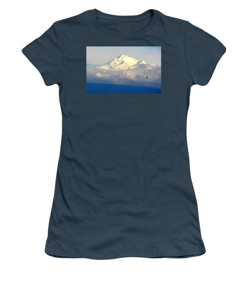 Shasta Near Sunset Women's T-Shirt (Junior Cut) by AJ Schibig