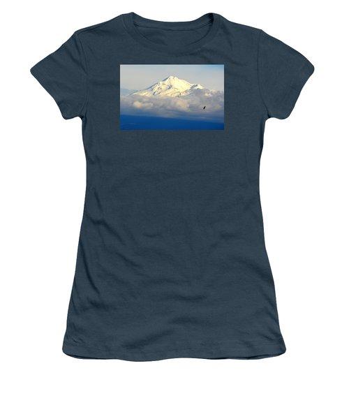Shasta Near Sunset Women's T-Shirt (Junior Cut)