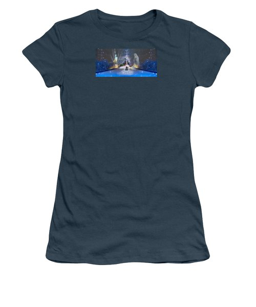 Women's T-Shirt (Junior Cut) featuring the photograph Silent Night  A Kiss From Paris And Back by Glenn Feron
