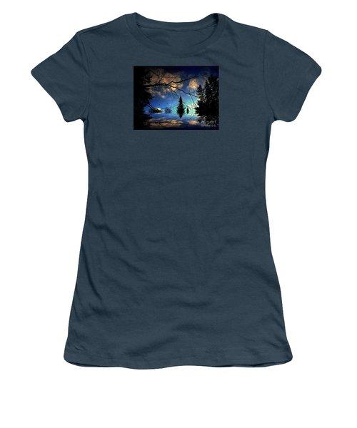 Silent Night Women's T-Shirt (Junior Cut) by Elfriede Fulda